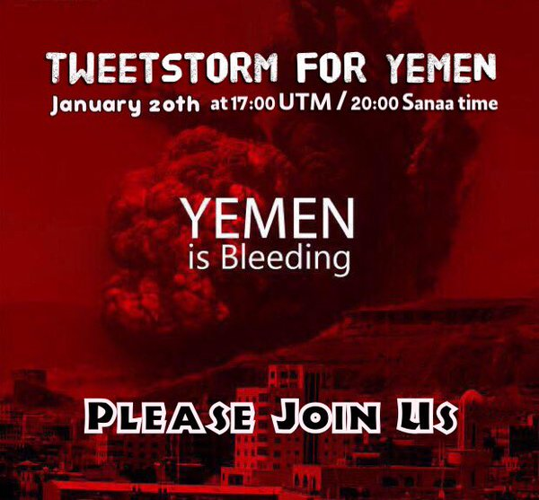 Tweetstorm to End Yemen War Launchs After 300 Days Of Saudi Aggression